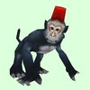 Dark Grey Monkey with Fez