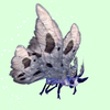 Indigo-Blue Moth w/ Grey Wings