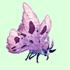 Indigo-Blue Moth w/ Pink Wings