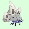 Indigo-Blue Moth w/ White Wings