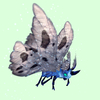 Cyan-Blue Moth w/ Grey Wings