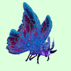 Purple Moth w/ Blue & Magenta Wings