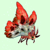 Red Moth w/ Red & White Wings