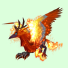 Flaming Orange Hippogryph