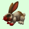 Bloodied Brown & White Rabbit
