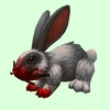 Bloodied Grey Rabbit