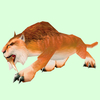 Reddish-Tan Saber Cat
