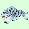 Striped White Saber Cat