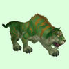 Green Grand Tiger w/ Orange Stripes