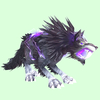 Grey-Purple Lightning Saber Worg