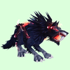 Stormy Red-Black Saber Worg