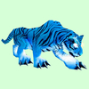 Hunched Glowing Blue Cat