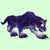 Hunched Glowing Purple Cat