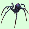Black & Maroon Spider