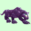 Hunched Amethyst Cat
