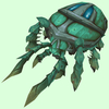Green Scarab w/ Blue Spots