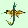 Green & Yellow Spiked Wind Serpent