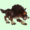Dark Brown Draenor Wolf