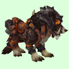 Armored Dark Brown Draenor Wolf