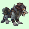 Armoured Silver Draenor Wolf