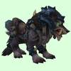 Armored Black Draenor Wolf