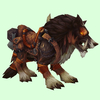 Saddled Dark Brown Draenor Wolf