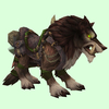 Saddled Brown Draenor Wolf