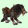 Saddled Grey Draenor Wolf