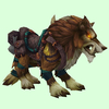 Saddled Yellow-Brown Draenor Wolf