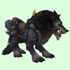 Saddled Black Draenor Wolf