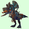 Blue Devilsaur w/ Black & Copper Armour