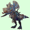 Blue Devilsaur w/ Grey & Bronze Armour