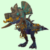 Blue Devilsaur w/ Grey & Gold Armour