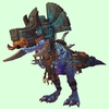 Mid-Blue Devilsaur w/ Black & Copper Armour