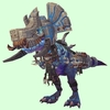 Mid-Blue Devilsaur w/ Grey & Bronze Armour