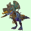 Mid-Blue Devilsaur w/ Grey & Gold Armour
