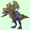 Mid-Blue Devilsaur w/ Gold & Pale Armour