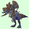 Mid-Blue Devilsaur w/ Brown & Pewter Armour