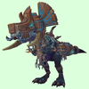 Blue Devilsaur w/ Brown & Pewter Armour