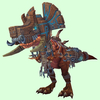 Bronze Devilsaur w/ Brown & Pewter Armour