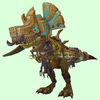 Green Devilsaur w/ Gold & Pale Armour