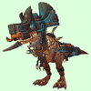 Light Brown Devilsaur w/ Black & Copper Armour