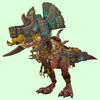 Light Brown Devilsaur w/ Grey & Gold Armour