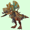 Light Brown Devilsaur w/ Gold & Pale Armour