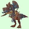 Light Brown Devilsaur w/ Brown & Pewter Armour